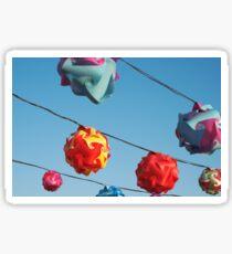 Twisted Plastic Lanterns Sticker