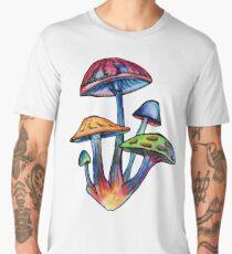 Cluster of Colored Shrooms Men's Premium T-Shirt