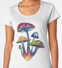 Cluster of Colored Shrooms Women's Premium T-Shirt