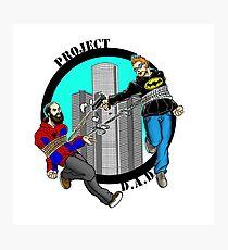 Project D.A.D. Podcast Logo Photographic Print