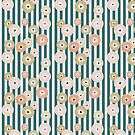 Delicate flowers on stripes by designdn