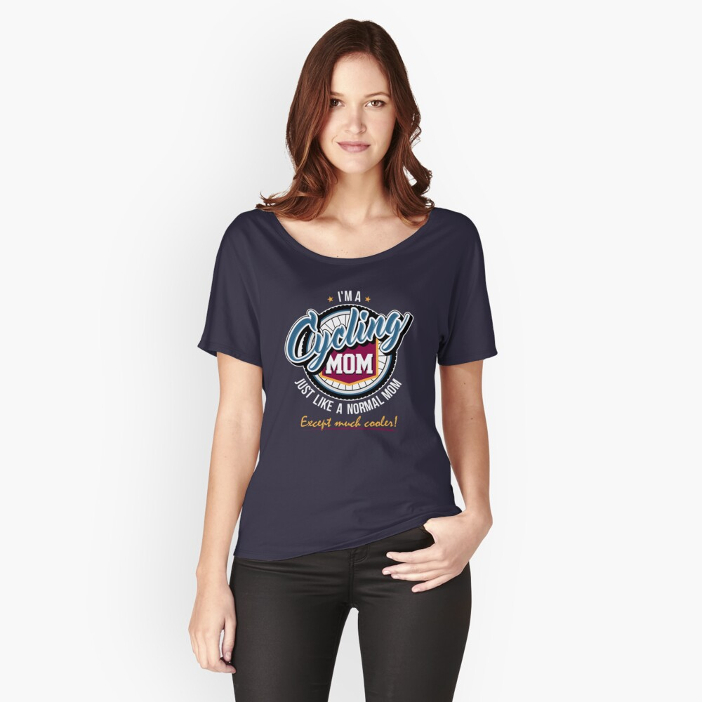 Cycling Mom Women's Relaxed Fit T-Shirt Front