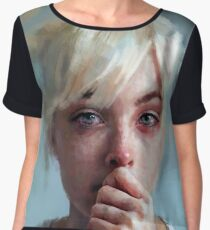 crying portrait Women's Chiffon Top