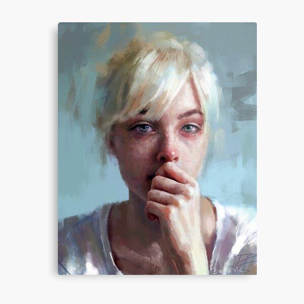 crying portrait ~ painting ~ prints Metal Print