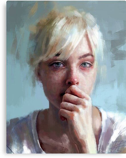 crying portrait by Ivana Besevic