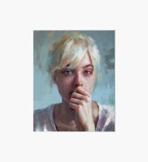crying portrait Art Board