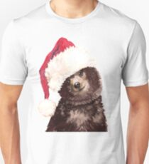 Baby Bear with Christmas Hat T-Shirt