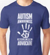 Autism Awareness Educate Support Advocate T-Shirt