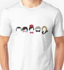 All 5 Modern Doctors - 13th Doctor (with 9th, 10th, 11th and 12th) - DOCTOR WHO T-Shirt
