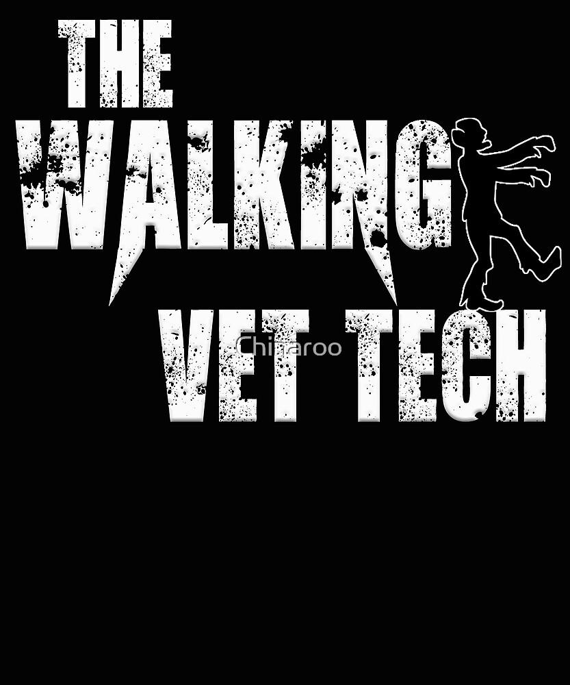 funny vet tech, walking Veterinarian pets animals zombie gift t shirt by Chinaroo