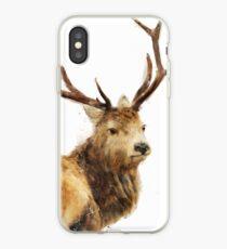 Winter Red Deer iPhone Case