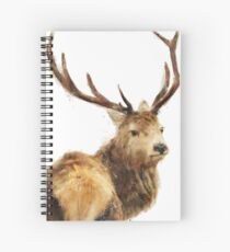 Winter Red Deer Spiral Notebook