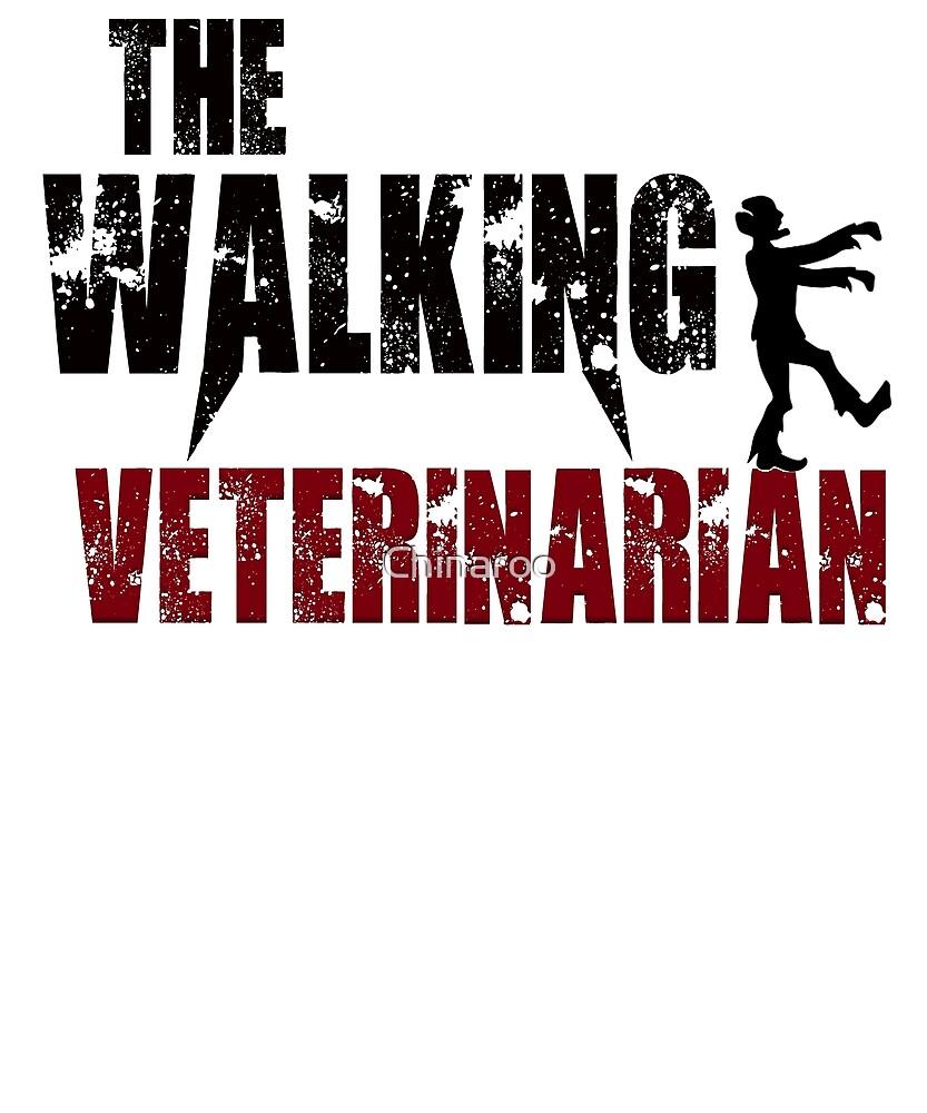 funny Veterinarian walking pets doctor Vet animal gift t shirt by Chinaroo