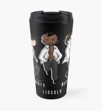 The 100 boy band - UTSS - white Travel Mug