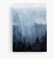 Watercolor landscape sky clouds Canvas Print
