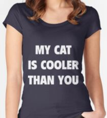 Fuck You Cat - T-shirt Women's Fitted Scoop T-Shirt