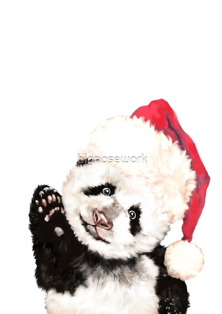 Christmas Baby Panda by bignosework