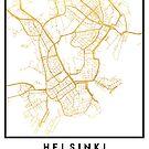 HELSINKI FINLAND CITY STREET MAP ART by deificusArt
