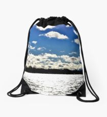 Water | Lake Ontario | Landscape | Toronto | Nadia Bonello Drawstring Bag