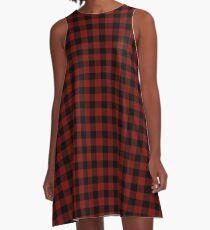 Vintage New England Shaker Scheune Red Buffalo Check Plaid A-Linien Kleid