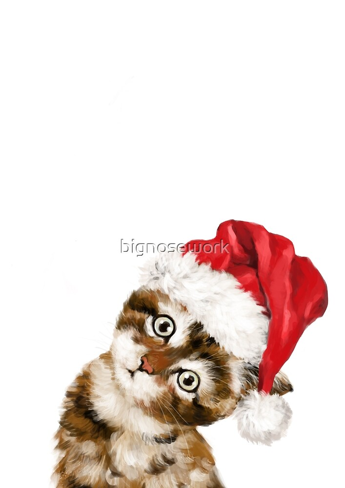 Christmas Baby Cat by bignosework
