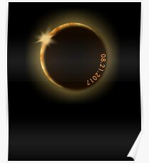 August 21 2017 eclipse viewing party total solar eclipse Poster