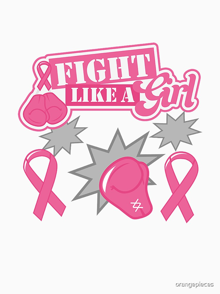 Fight like a girl Fun Design T shirt by orangepieces