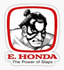 E. Honda - Street Fighter -  The Power of Slaps Sticker