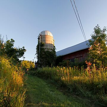 Rural Barn and Silo by ztrnorge