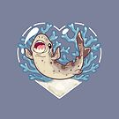 NUGGET, the Cookie Cutter Shark by bytesizetreas