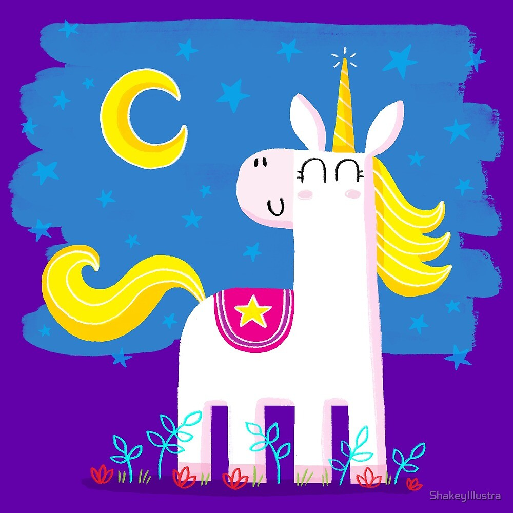 Nightime Unicorn by ShakeyIllustra