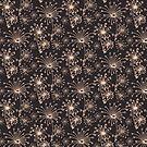 Stylized Dandelion Dark by designdn