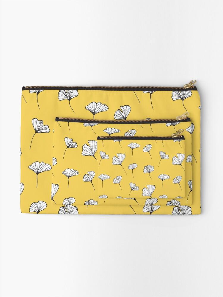 Alternative Ansicht von Ginkgo Biloba Blätter Muster Täschchen