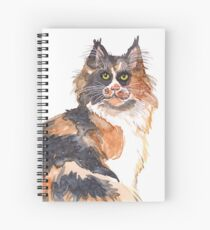 Calico Maine Coon Spiral Notebook