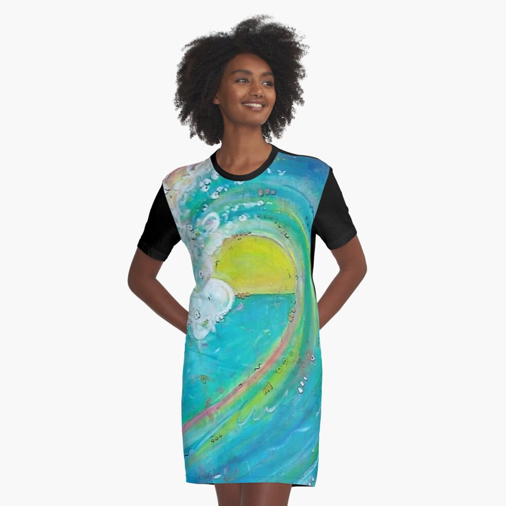 First Wave Graphic T-Shirt Dress