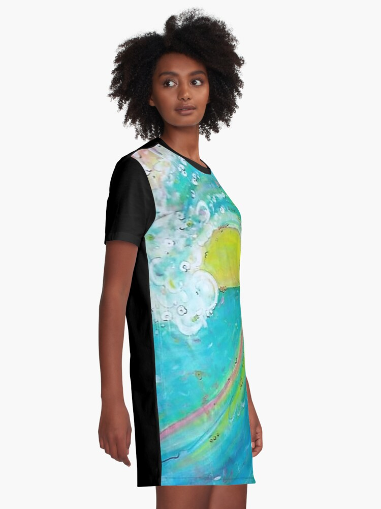 Alternate view of First Wave Graphic T-Shirt Dress