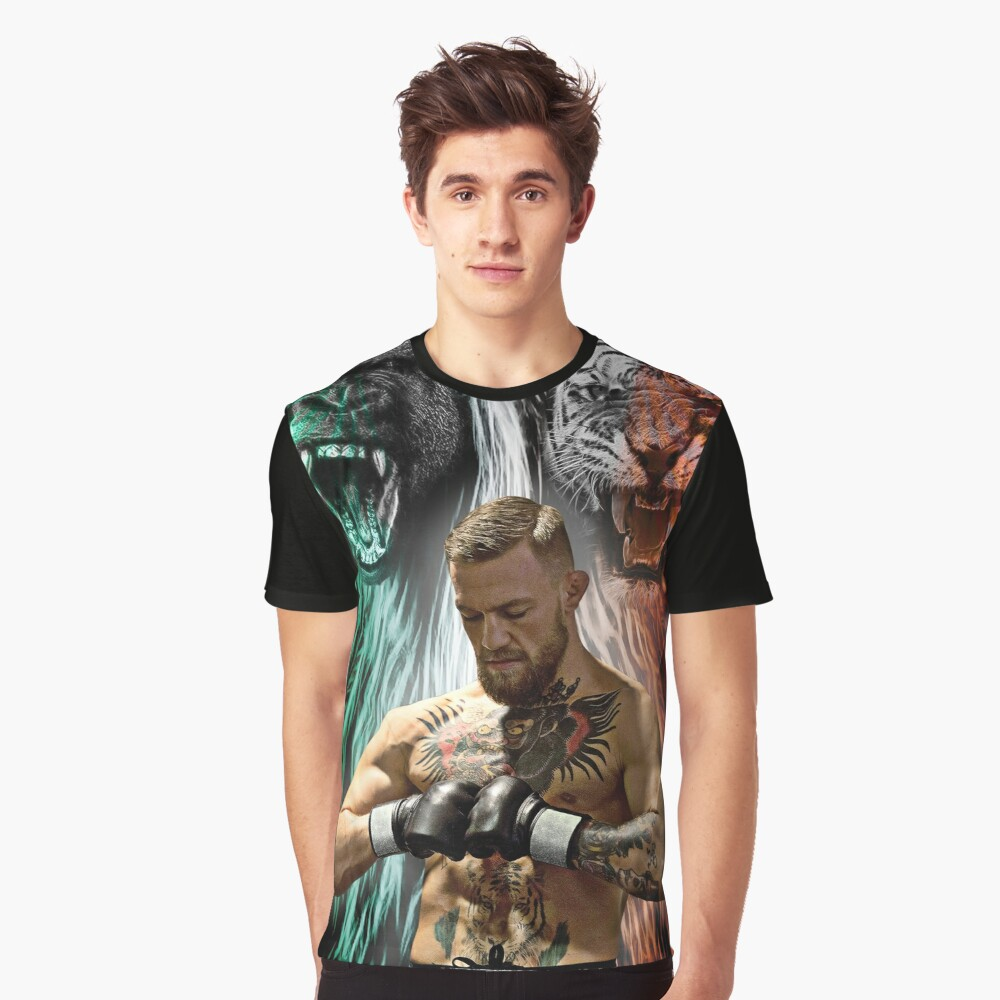 Notorious Conor McGregor Beasts Inside Graphic T-Shirt Front