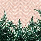 Tropical Ferns on Pink #redbubble #decor #buyart by designdn
