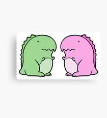 Little Dino Twins Canvas Print