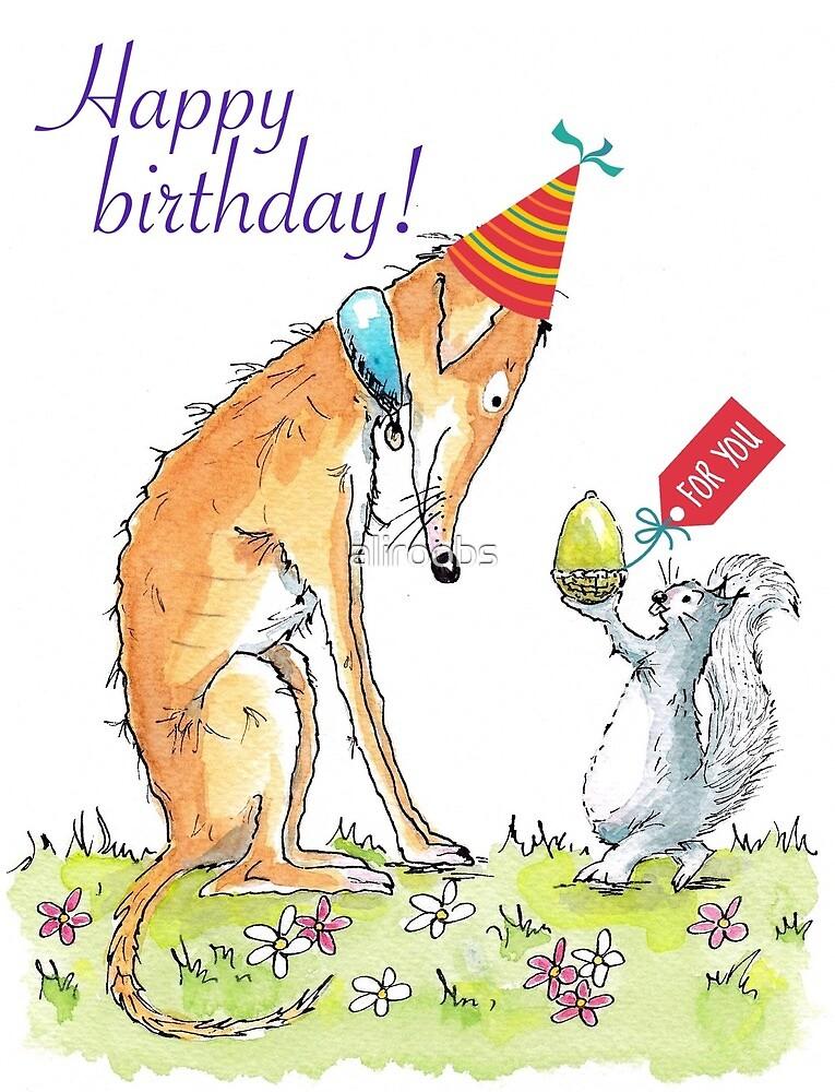 Birthday Lurcher by aliroobs