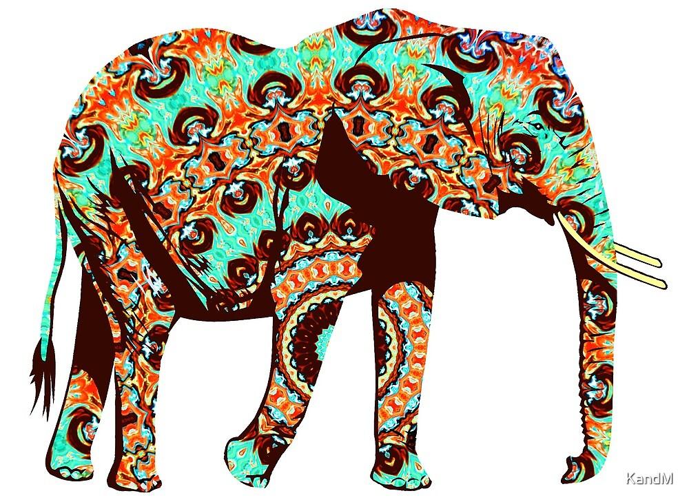 Colorful Elephant by KandM