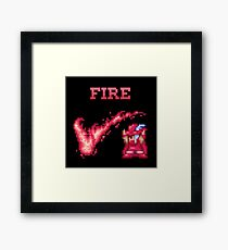 R Mage FIRE Framed Print