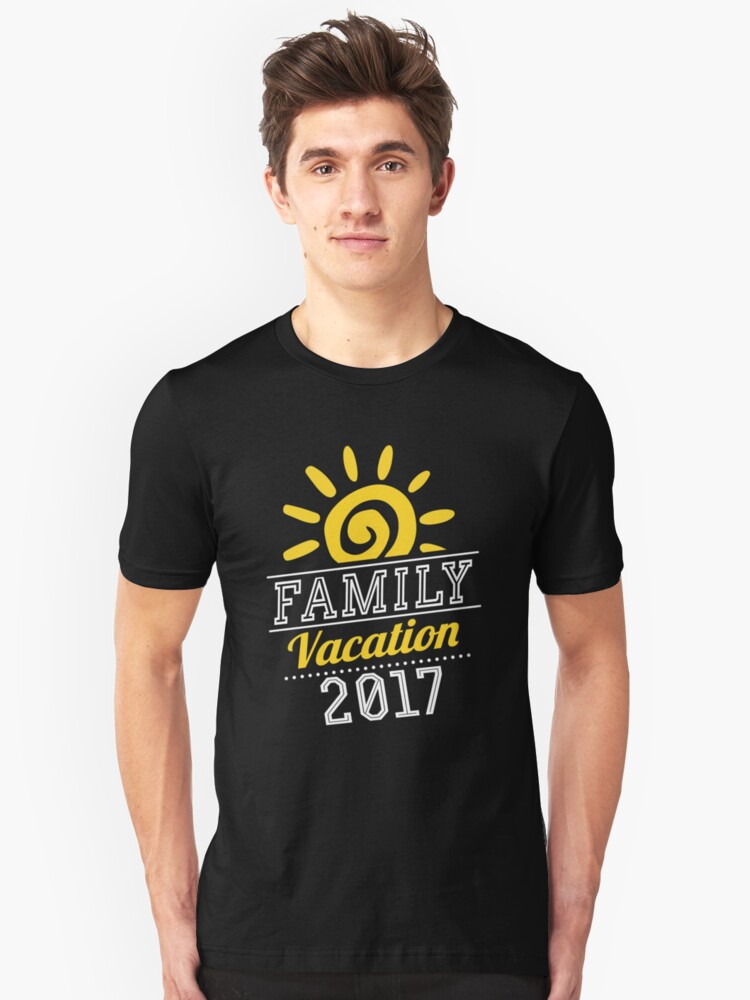Family Vacation 2017 Cross Country Road Trip Unisex T-Shirt Front