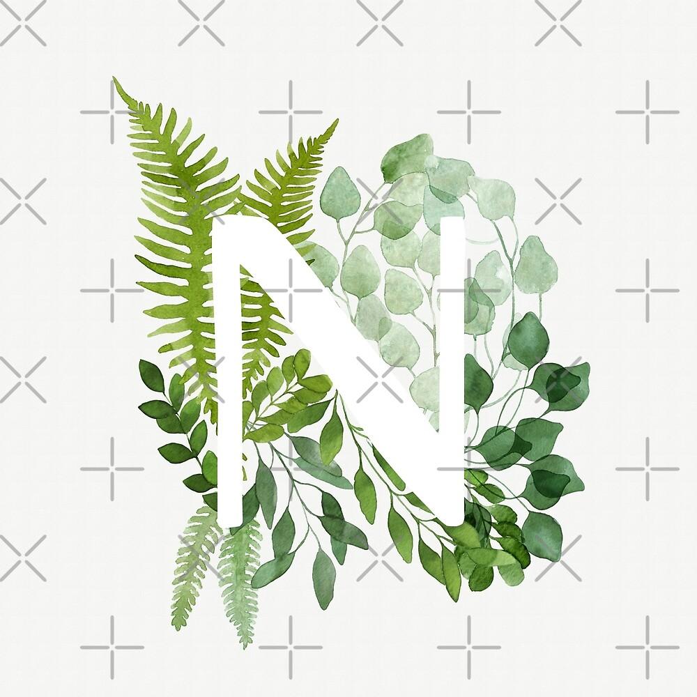 Floral letter N by helga-wigandt
