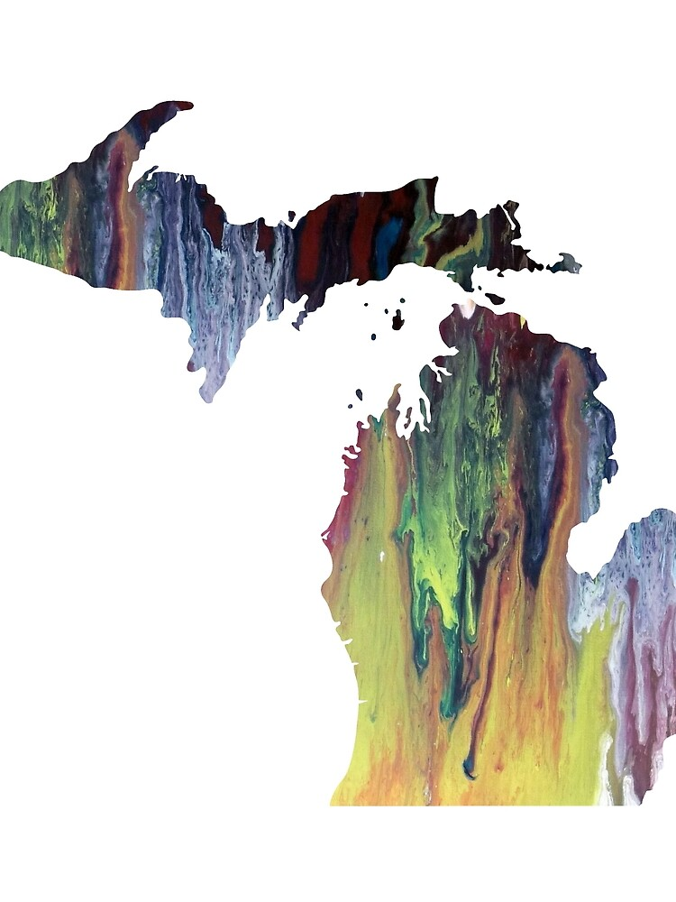 Colorful michigan silhouette by BittenByErmines