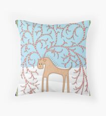 Ginger Cane Throw Pillow