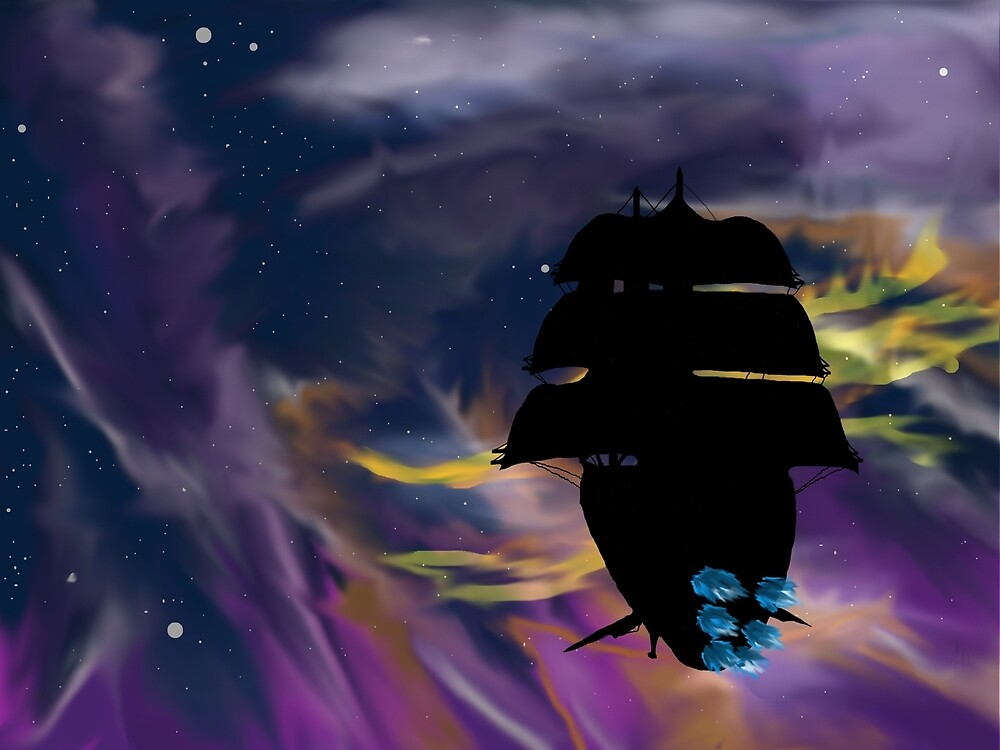 Sailing In A sea of stars by teshura