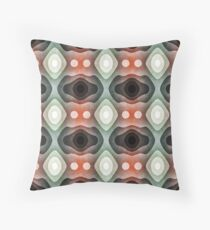 Textured Layers of Green And Orange Throw Pillow