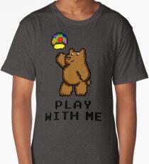 8-Bit Bear - Play with Me Long T-Shirt