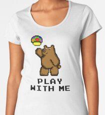 8-Bit Bear - Play with Me Women's Premium T-Shirt